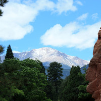 Colorful Colorado Wall Art, 5x7 Print, Pikes Peak, America's Mountain, Unique Gift, You Deserve Affordable Decor, Treat Yourself Everyday