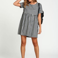 Checkered Babydoll Dress