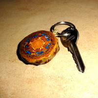 Pinecone Pendant Necklace. Car Key Chain Gift.Pinecone keychain key ring key fob Handmade Key Chain Ring Natural Galaxy Wooden Keychain Wood