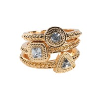 Triangle, Circle & Square Ring 3-Pack