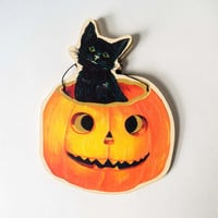 Cat in Pumpkin Garland