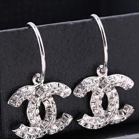 New Fasshion More Diamond Long Earring Women Accessories Silver