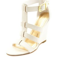 Single Sole Strappy Wedges