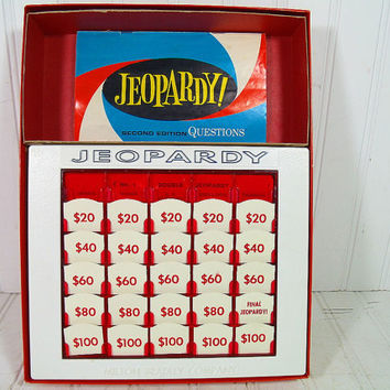 Vintage Jeopardy Second Edition Milton Bradley Game - Home Version of the Great T.V. Game - Includes Questions & Answers Books with Board