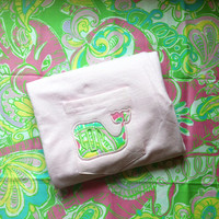 Lilly Pulitzer Chin Chin pocket whale tee Long Sleeve