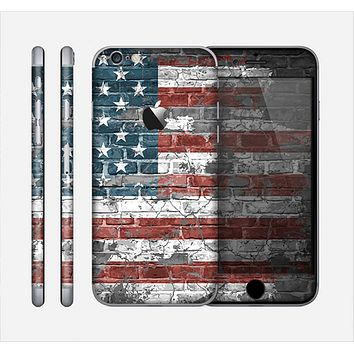 The Vintage USA Flag Skin for the Apple iPhone 6