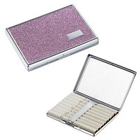 Visol Brooklyn Purple Glitter Cigarette Case