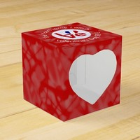 French LOVE Flag White on Red Favor Box