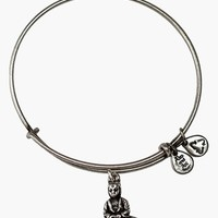 Women's Alex and Ani 'Buddha' Expandable Wire Bangle