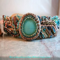 Bracelet Earth Water Fire and Sky by chrysalisdesignsbyRM on Etsy