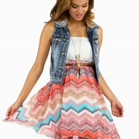 AZTEC LACE BELTED DRESS