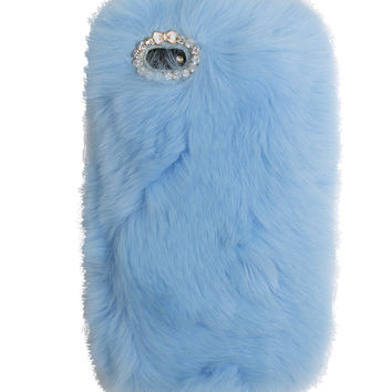 SO FURRY BLUE IPHONE CASE