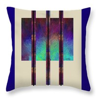 """abstract - art- Earth Song Throw Pillow for Sale by Ann Powell - 14"""" x 14"""""""