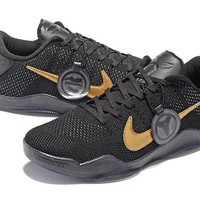 Nike Kobe XI Elite Black/Gold Basketball Trainers US5.5-12