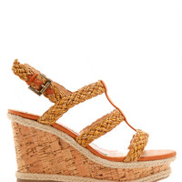 Strappy Caged Braided Wedges