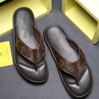 Louis Vuitton LV Flip Flop Sandal Men Slipper-1