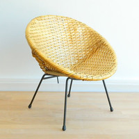 Mid Century Modern Woven Child's Hoop Chair by MonkiVintage