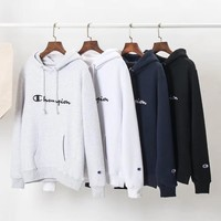 Champion Woman Men Fashion Embroidery Hoodie Top Sweater-2