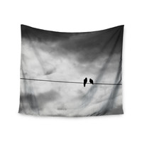 "Debbra Obertanec ""Friendship"" Black White Wall Tapestry"