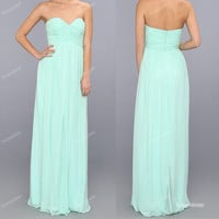Mint Bridesmaid Dress - Long Bridesmaid Dress / Cheap Bridesmaid Dress / Prom Dress / Mint Prom Dress / Long Prom Dress
