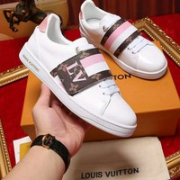 LV Louis Vuitton 2018 counters high quality couple models white shoes F-XIMIN-WMNX