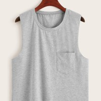 Pocket Detail Tank Top