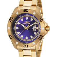 Men's Pro Diver 18K Gold-Plated Steel Dial Watch