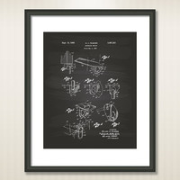 Anchoring device 1969 Patent Art Illustration - Drawing - Printable INSTANT DOWNLOAD - Get 5 colors background