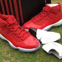 "[FREE SHIPPNG] Nike Air Jordan 11 Retro ""Gym Red"" Basketball Shoes  AJ11 [378037 623]"