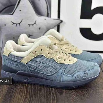 Asics Gel-Lyte 2018 men's and women's fashion high quality pigskin running shoes F-A36H-MY blue