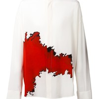 Indie Designs Oversized Stain Printed Silk Crepe Shirt