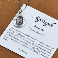 Nightingale Wax Seal Nurse Necklace - Dedicated Charity Jewelry - 296