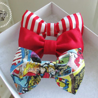 Any 1 bow bow of your choice - Striped Bow - Red bow - Comic Bow
