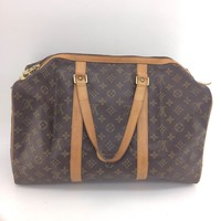 Auth Louis Vuitton Monogram Canvas leather Sac Souple 45 M41624 Boston Bag
