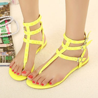 Candy Color Sandals with Cute Studs for Women UTM061621