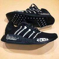 Adidas NMD R1 Boost x Mastermind Japan(MMJ)Fashion Trending Sneakers Running Sports Shoes