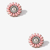 Faux Stone Flower Studs | FOREVER 21 - 1017307691