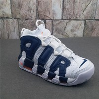 Nike Air More Uptempo White/Blue Sneaker