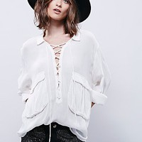 FP One Womens Robin Lace Up Top