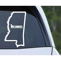 Mississippi Home State Outline MS - USA America Die Cut Vinyl Decal Sticker