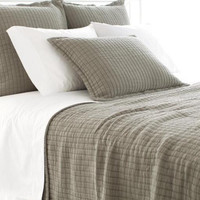 Boyfriend Matelasse Pillow Shams | Grey