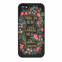 Little And Fierce On Charcoal iPhone 5 Case