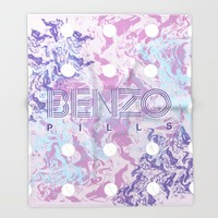 Benzo Pills Throw Blanket by Chobopop