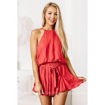Baby You're A Firework Jacquard Satin Romper