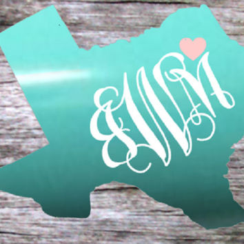 Texas Decal, Yeti decal, State Shape, Tumbler Decal