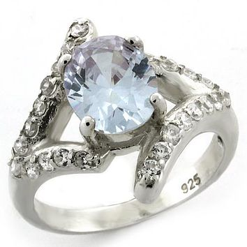 Mens Silver Wedding Ring LOAS1135 - 925 Sterling Silver Ring with CZ
