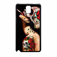 Floral Sugar Skull Tattooed Samsung Galaxy Note 3 Case