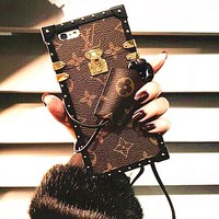 LV Hot Deal I Phone Matte Couple Phone Case For iphone 7 6plus 7 plus 8 iPhone X