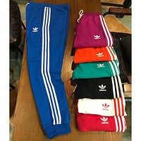 ADIDAS clover 2018 spring and summer couple models wild sports pants F-XMCP-YC blue