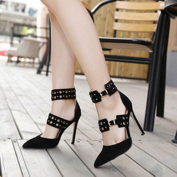New Hot Female Fashion Ankle Strap Pumps